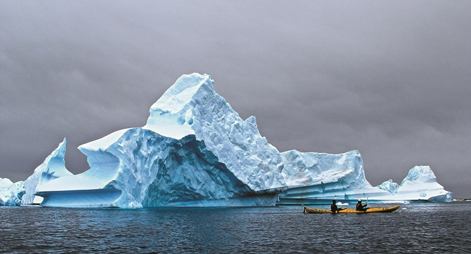 Icebergs, Lemaire Channel, Antarctic Peninsula.
