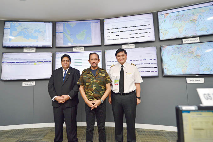 His Majesty visiting the new Operation Control Centre 01