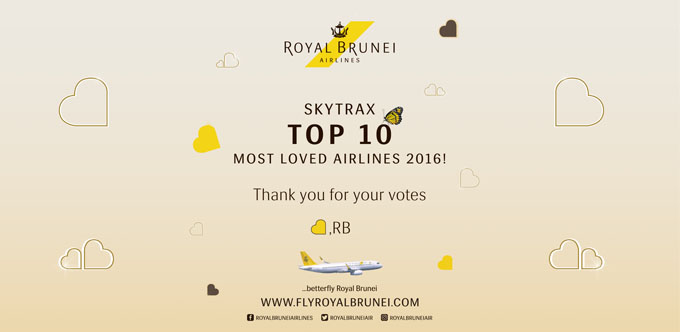 SKYTRAX Top 10 Most Loved Airlines 2016!